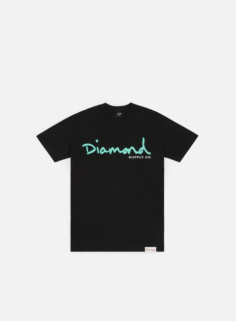 t shirt diamond supply og script core t shirt black