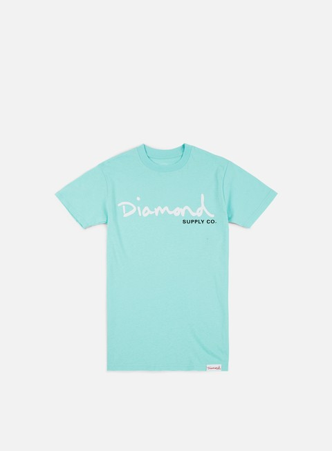 t shirt diamond supply og script core t shirt diamond blue