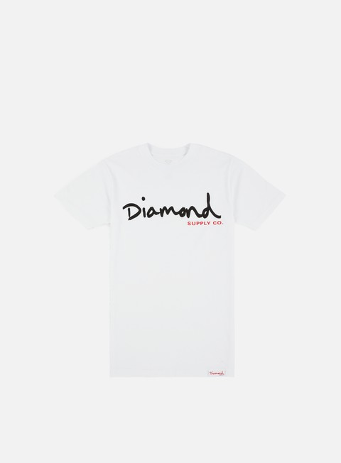 t shirt diamond supply og script core t shirt white
