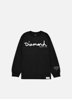 Diamond Supply - OG Script LS T-shirt, Black 1