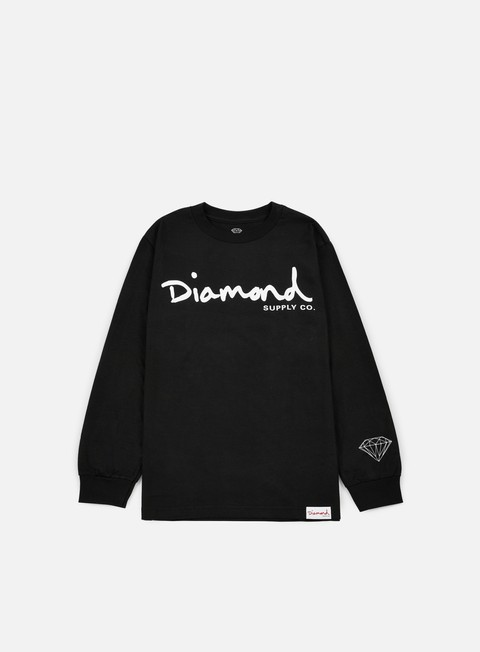 t shirt diamond supply og script ls t shirt black