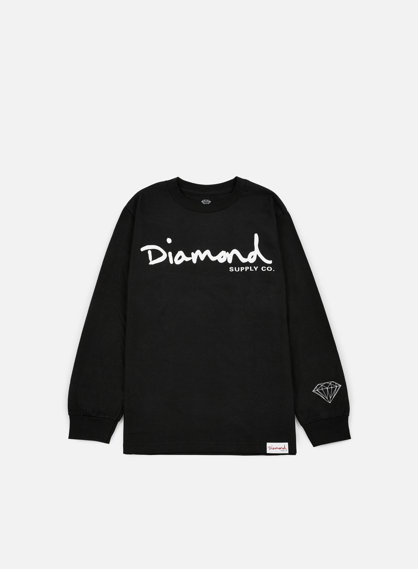 Diamond Supply - OG Script LS T-shirt, Black