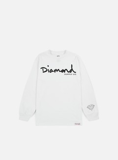 Diamond Supply - OG Script LS T-shirt, White 1