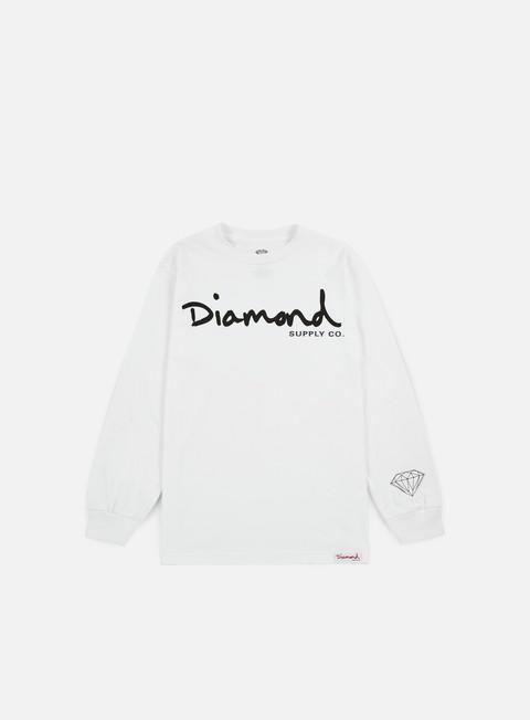 T-shirt a Manica Lunga Diamond Supply OG Script LS T-shirt