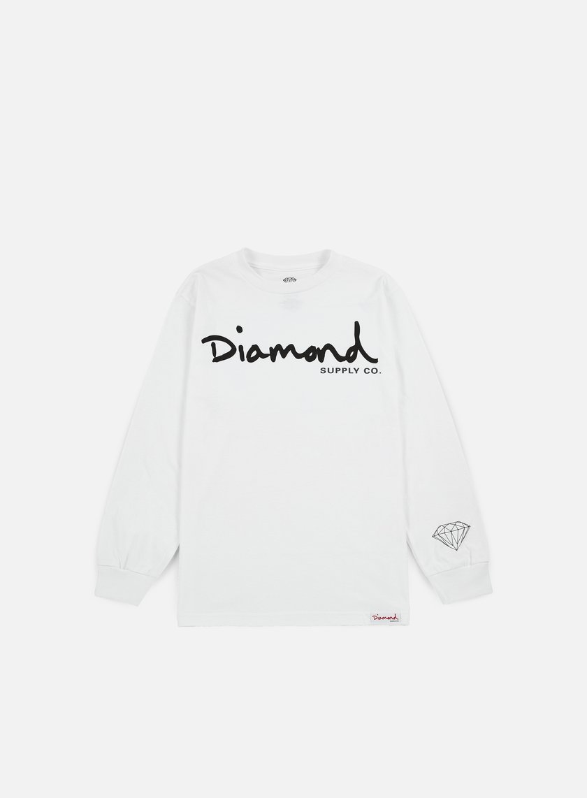 Diamond Supply - OG Script LS T-shirt, White