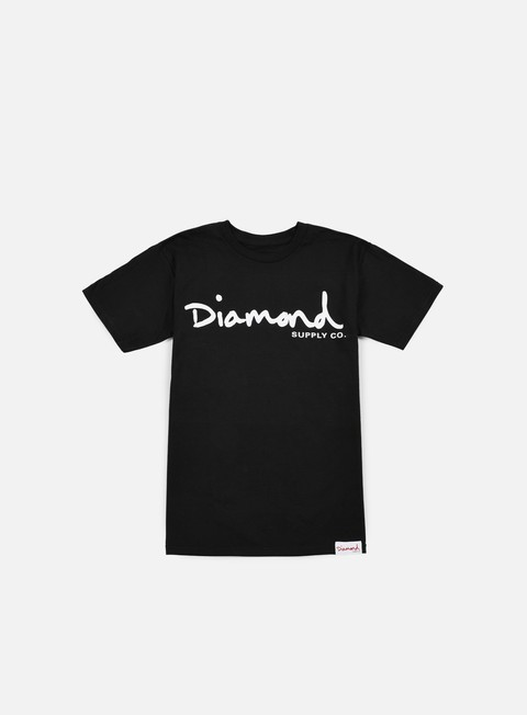 t shirt diamond supply og script t shirt black