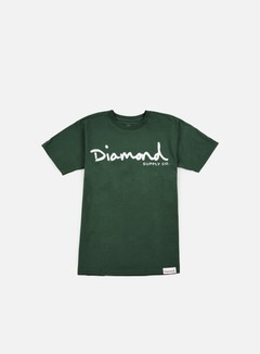 Diamond Supply - OG Script T-shirt, Forest Green
