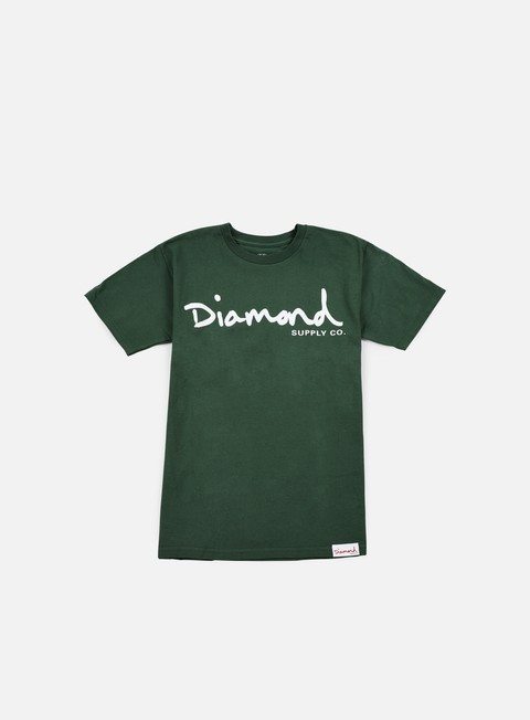 t shirt diamond supply og script t shirt forest green
