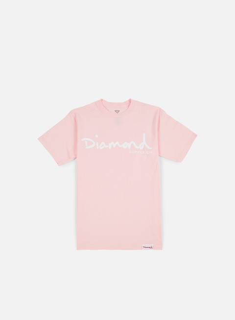 t shirt diamond supply og script t shirt pink
