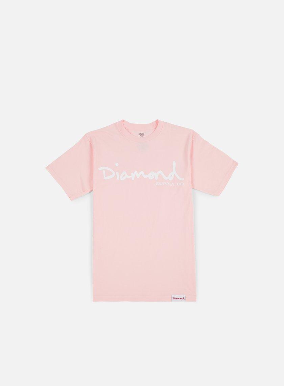 Diamond Supply - OG Script T-shirt, Pink