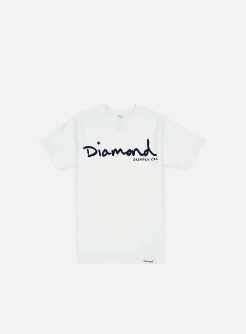 T-shirt a Manica Corta Diamond Supply OG Script T-shirt