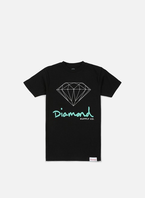 T-shirt a Manica Corta Diamond Supply OG Sign Core T-shirt