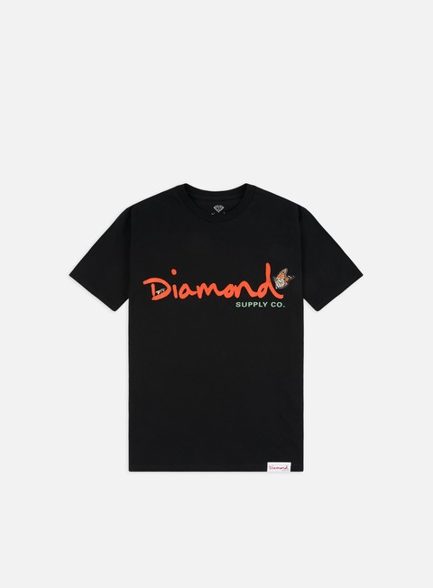 Outlet e Saldi T-shirt a Manica Corta Diamond Supply Paradise OG Script T-shirt