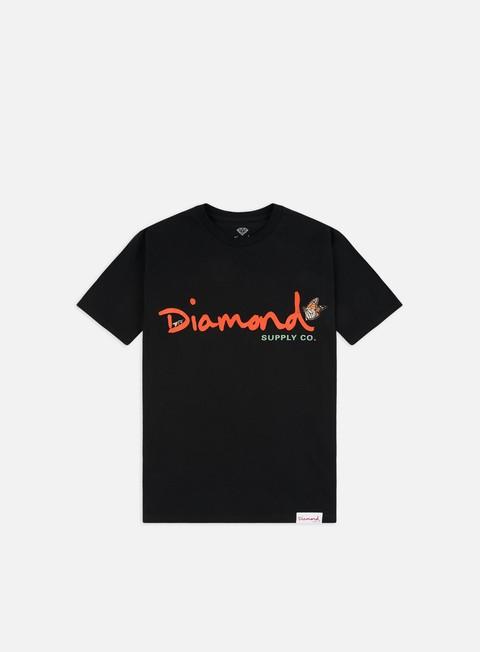 Outlet e Saldi T-shirt a Manica Corta Diamond Supply Paradise OG Script T-shirt