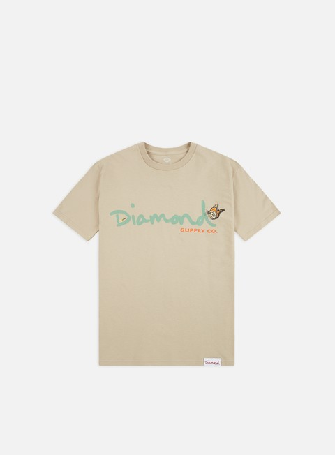 T-shirt a Manica Corta Diamond Supply Paradise OG Script T-shirt
