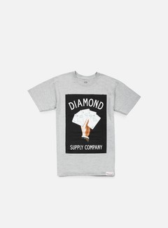 Diamond Supply - Royal Flush T-shirt, Heather Grey 1