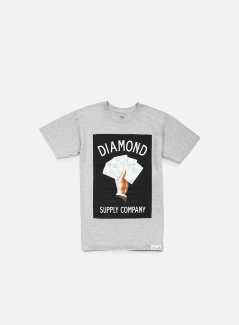 t shirt diamond supply royal flush t shirt heather grey