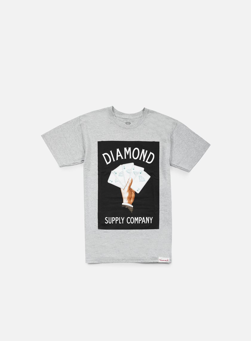 Diamond Supply - Royal Flush T-shirt, Heather Grey