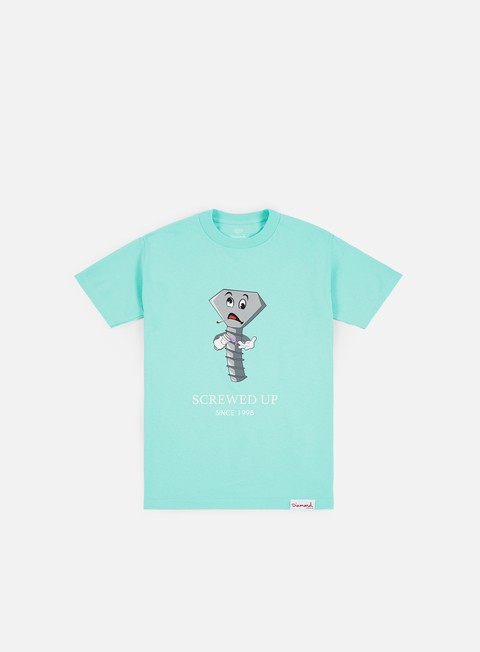 Short Sleeve T-shirts Diamond Supply Screwed Up T-shirt