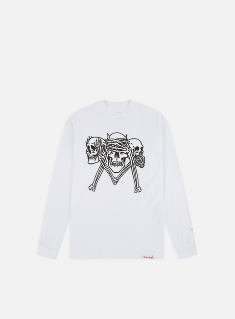 Outlet e Saldi T-shirt a Manica Lunga Diamond Supply Secrets Die LS T-shirt