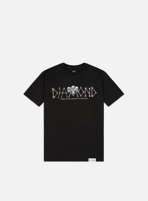 Short Sleeve T-shirts Diamond Supply Secrets Die T-shirt