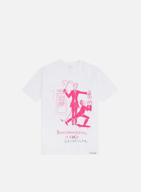 Outlet e Saldi T-shirt a Manica Corta Diamond Supply Skate Crime T-shirt