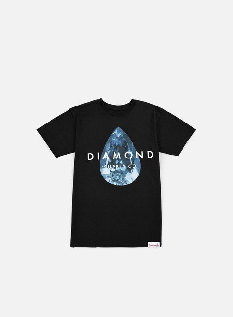 t shirt diamond supply teardrop t shirt black blue