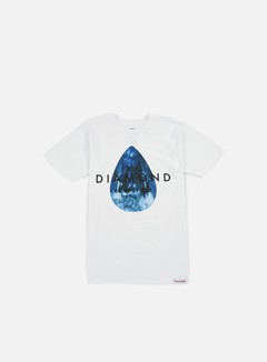 Diamond Supply - Teardrop T-shirt, White/Blue