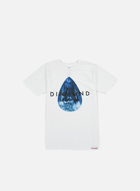t shirt diamond supply teardrop t shirt white blue