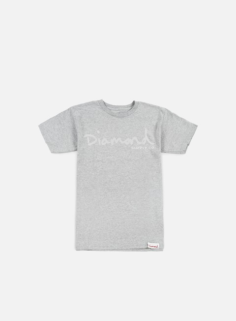 t shirt diamond supply tonal og script t shirt heather grey