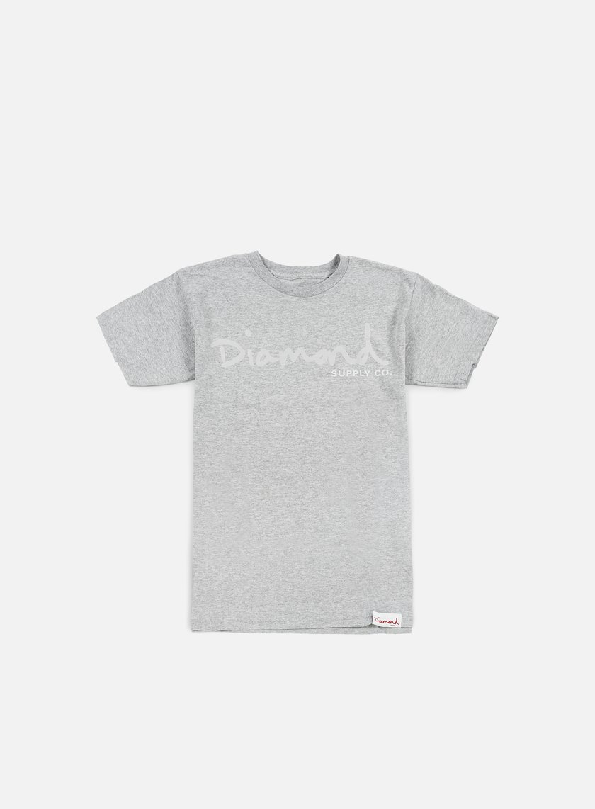 Diamond Supply - Tonal OG Script T-shirt, Heather Grey