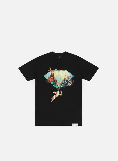 t shirt diamond supply trinity t shirt black