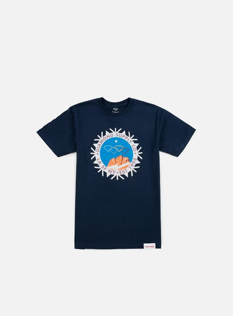 t shirt diamond supply winter seal t shirt navy