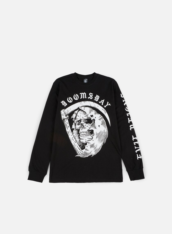 Doomsday - D As Death LS T-shirt, Black
