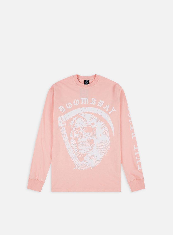 Doomsday - D As Death LS T-shirt, Pink