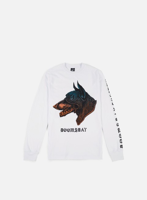 Sale Outlet Long Sleeve T-shirts Doomsday Dog Unit Doberman LS T-shirt