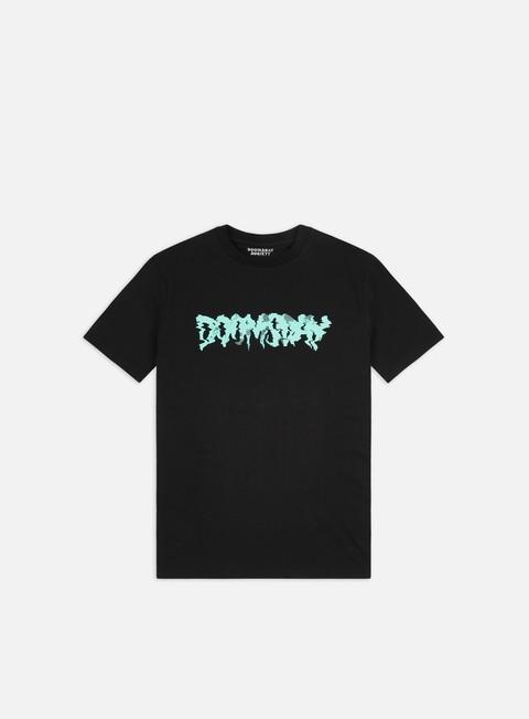 Short Sleeve T-shirts Doomsday Glitch Logo T-shirt