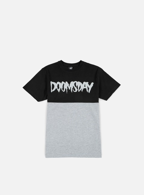 t shirt doomsday logo 2 tone t shirt black grey