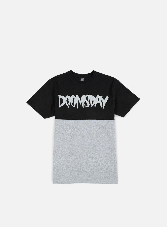Doomsday - Logo 2 Tone T-shirt, Black/Grey