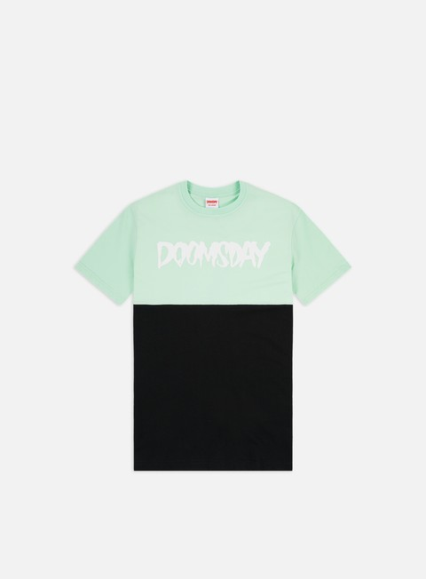 t shirt doomsday logo 2 tone t shirt black mint