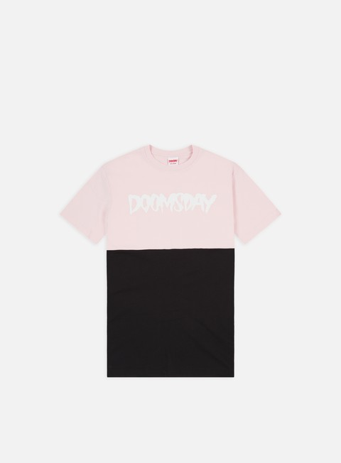 t shirt doomsday logo 2 tone t shirt black soft pink