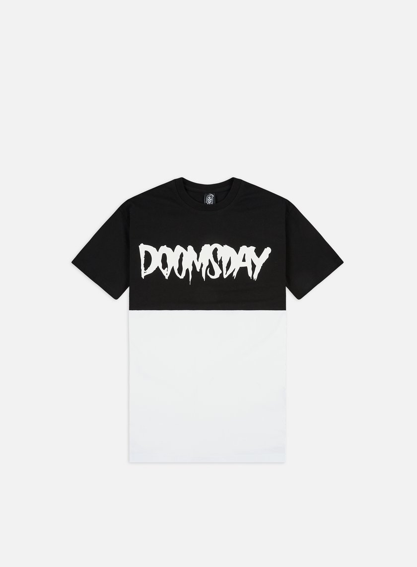 Doomsday - Logo 2 Tone T-shirt, Black/White