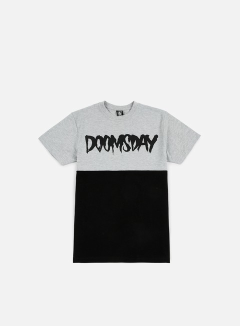 t shirt doomsday logo 2 tone t shirt grey black