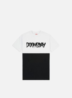 Doomsday - Logo 2 Tone T-shirt, White/Black