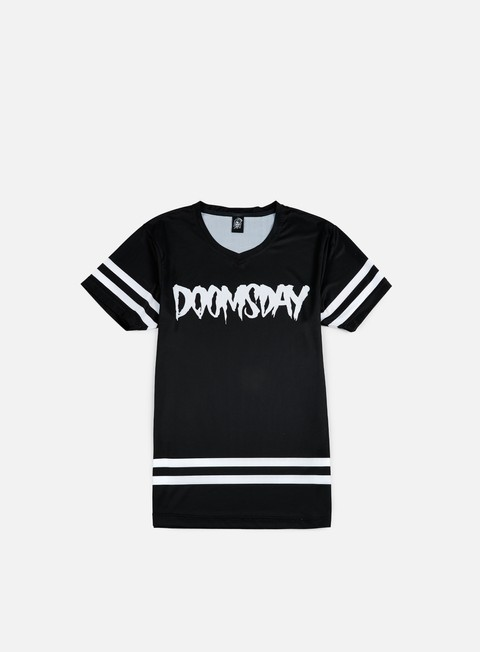 t shirt doomsday logo jersey black white