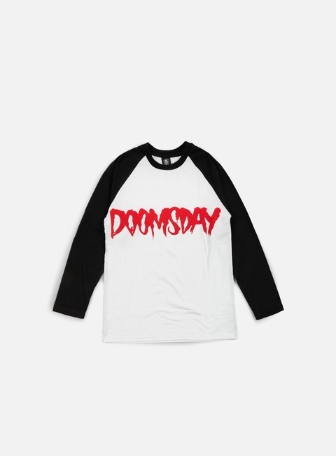 t shirt doomsday logo ls t shirt black white red