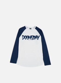 Doomsday - Logo LS T-shirt, Navy/White