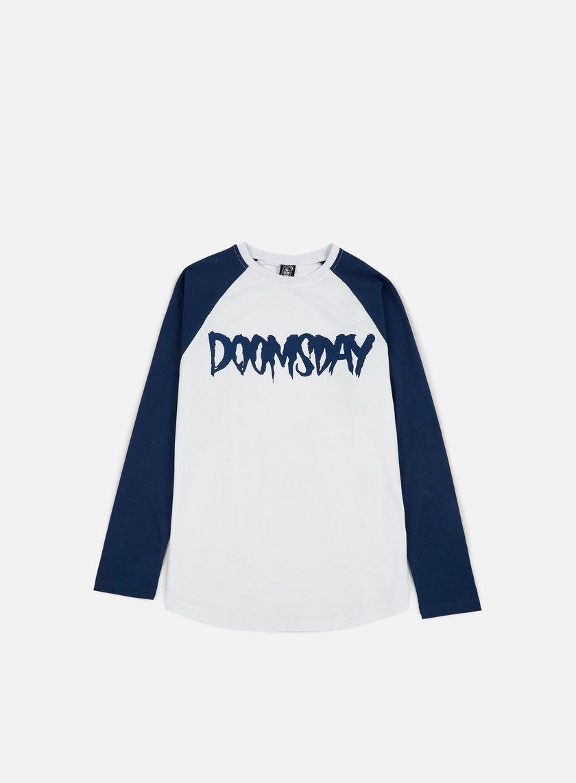 Doomsday - Logo LS T-shirt, Navy/White