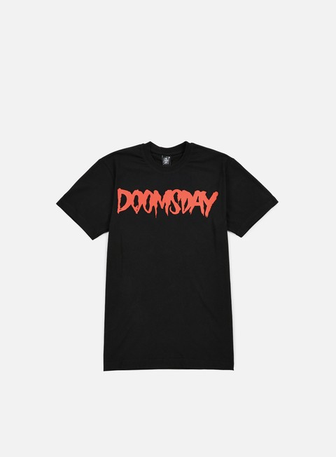 t shirt doomsday logo t shirt black red