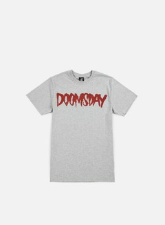 Doomsday - Logo T-shirt, Grey/Red